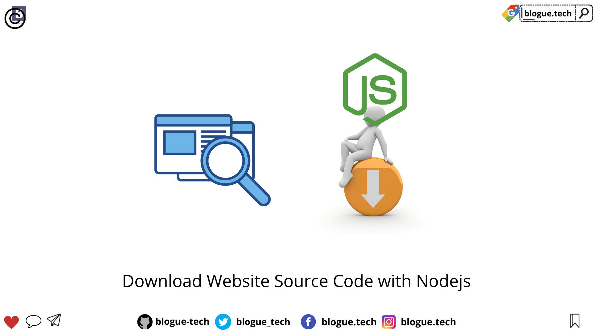 Download Website Source Code with Nodejs