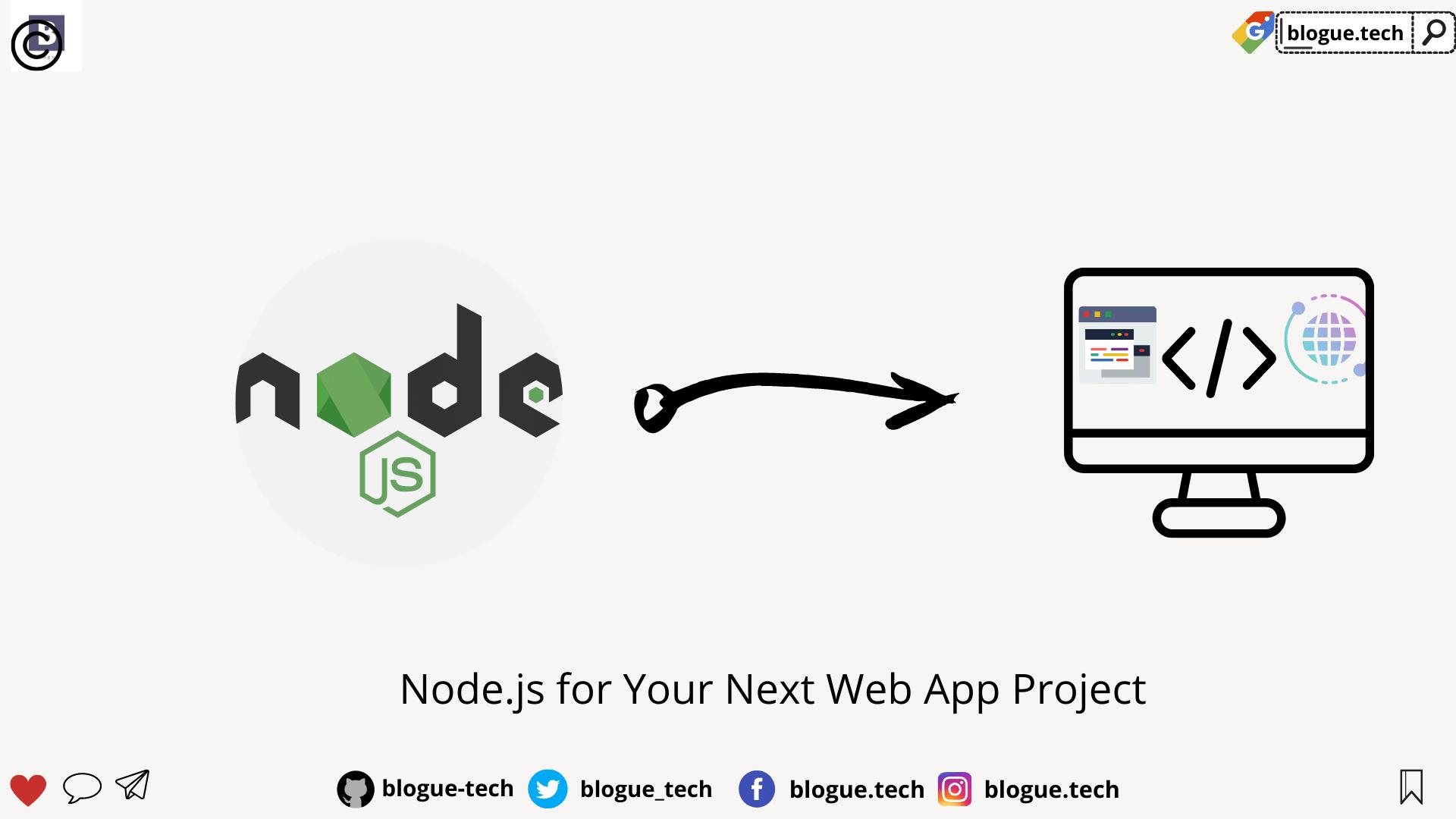 Node.js for Your Next Web App Project
