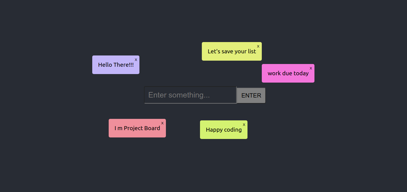 ProjectBoard with React