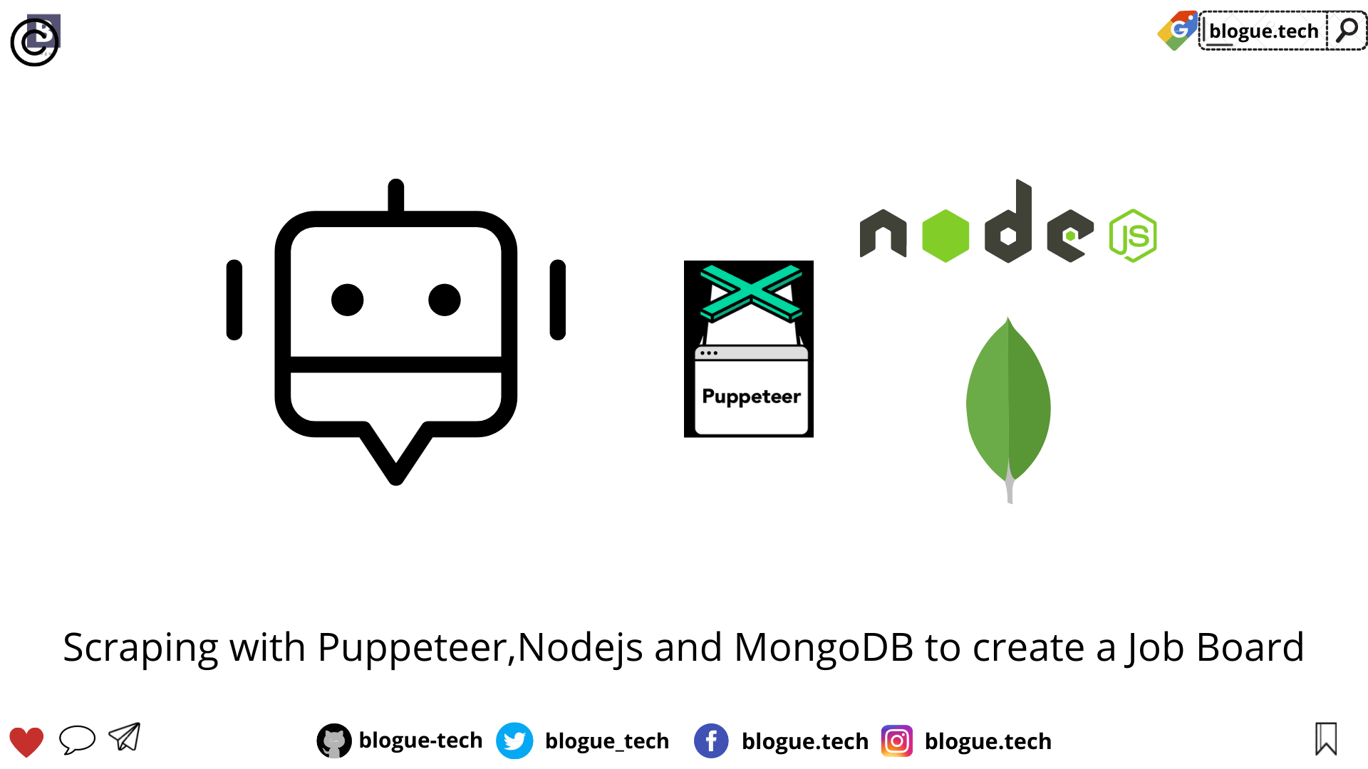 Scraping with Puppeteer,Nodejs and MongoDB to create a Job Board